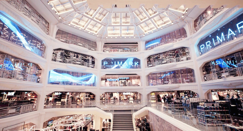 TECHNOMEDIA'S SOLUTIONS TEAM CREATES DAZZLING  AUDIO-VISUAL INSTALLATIONS FOR PRIMARK'S MADRID FLAGSHIP STORE